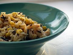 Rissalat med rejer, majs og chili