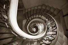 Nissim de Camondo stair (R. O. Flinn) Tags: house paris france monochrome museum sepia architecture spiral interior wroughtiron staircase helix mansion nissimdecamondo