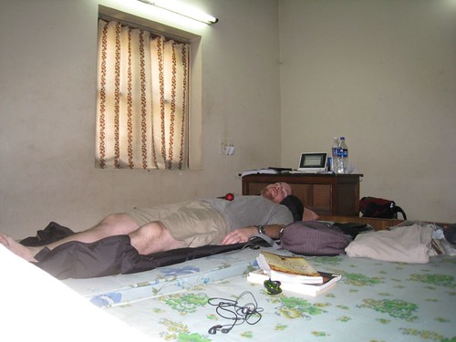 My office - a guest room at the Tibetan Monastery - Bodhgaya, India