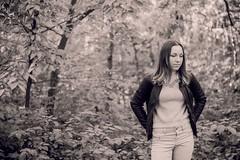 (Esther'90) Tags: portrait portraitphotography portraitwoman portraiture portraits woman womanportrait womanfashion fashion fashionphotography fashionportrait blackandwhite blackandwhiteportrait forest bokeh bokehbackground autumn autumnfall fall