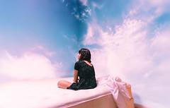 (lauren zaknoun) Tags: aliceinwonderland clouds conceptual conceptualphotography darkphotography fairytale girl sky surreal surrealphotography witch bluesky