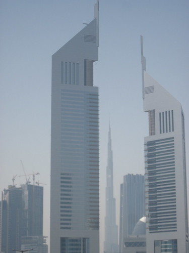 Emirates Towers and Burj Khalifa
