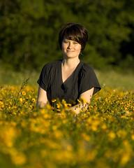 Field of Daisies (Tex Flix) Tags: flowers girl field daisies bokeh meadow