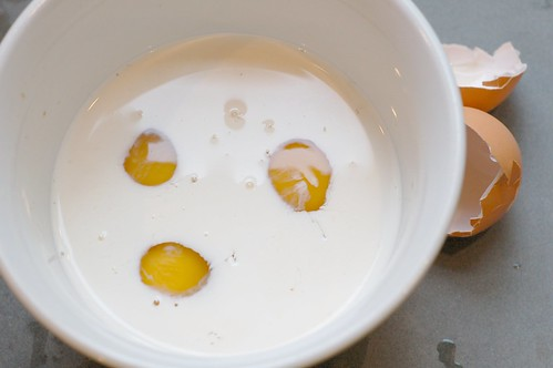 Eggs Hiding In The Cream by Eve Fox, Garden of Eating blog, copyright 2011