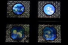 Window glass (MelindaChan ^..^) Tags: guangzhou china blue art heritage window glass chinese mel melinda 陈家祠 chenclanacademy chanmelel melindachan