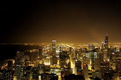 Chicago by night (Premshree Pillai) Tags: city chicago skyline night illinois downtown cityscape nightscape loop il explore fav theloop chicagoloop hancock johnhancock johnhancockcenter hancockobservatory citybynight bluelist chicagobynight