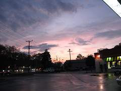 I was lucky to catch the sunset outside Sheetz, on North Atherton Street, State College, one evening.