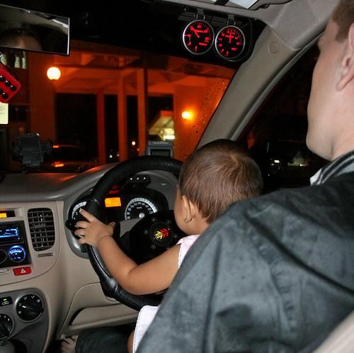 Ian driving :)