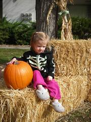 Anna with pumpkin