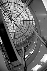 The view up while getting a Bene Bene breakfast on the Sunday shift - Canary Wharf, London (greenwood100) Tags: roof light bw canada london glass architecture square perspective lookingup wharf docklands canary canarywharf canoneos e14 buidling glazing csar pelli csarpelli benebene anawesomeshot e145eq e145ax e145aa e145ag e145lh e145hq welcomeuk