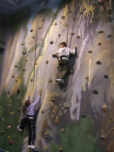 rock climbing wall- you can do it Julia