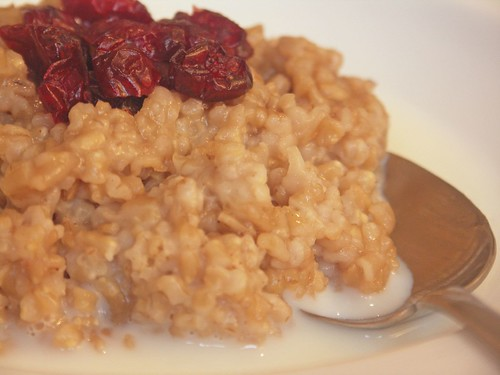Steel Cut Oatmeal with Craisins