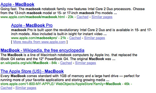 Apple Macbook Search