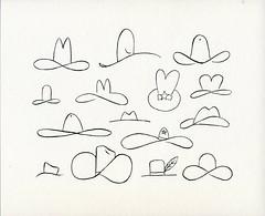 Cowboy hats of the railroad (thunderdome) Tags: road art ink cowboy streak drawing hats rail boxcar roads hobo cor bozo colossus moniker oilbar texino