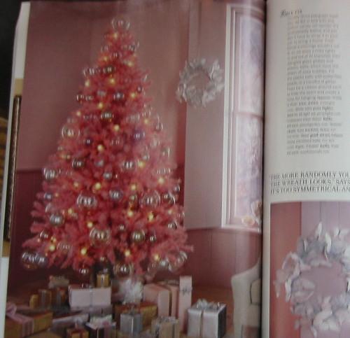 Pink Christmas tree in the Dec/Jan Blueprint