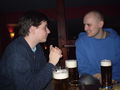 Discussion over some beer