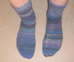 Shetland lace socks