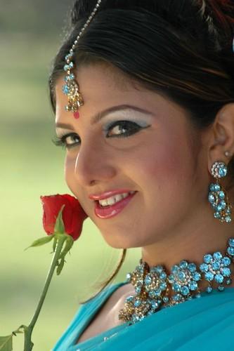 Rambha with a rosebud