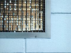 Grate (stebulus) Tags: blue yellow metal grate cinderblock