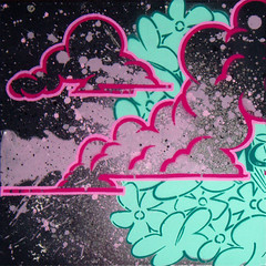 Kim-Clouds (Lord Leigh) Tags: mist streetart art illustration breakfast graffiti mono design stencil sticker lord canvas mister leigh ibex monoclothing