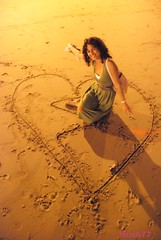 love (Rushay) Tags: sunset sea woman love beach girl lady night nude toes heart african coloured blacklady seasand d80