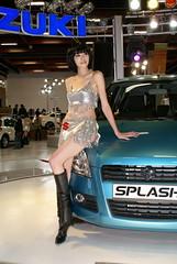 SUZUKI SPLASH & SG (CD's Pit) Tags: portrait cars taiwan showgirl taipei suzuki splash    2008taipeiintlautoshow