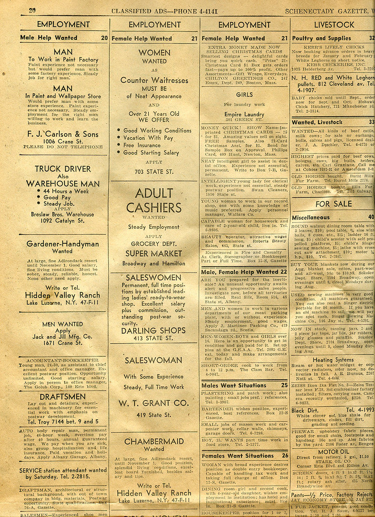 Gazette classifieds 8-15-1945