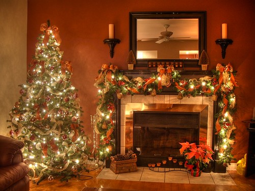 Christmas Fireplace (HDR) (by _christian m)