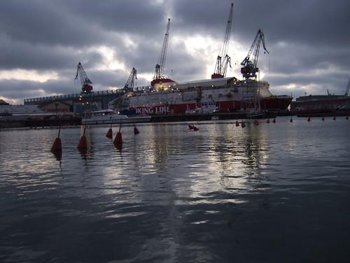 M/S Viking XPRS being built in Helsinki