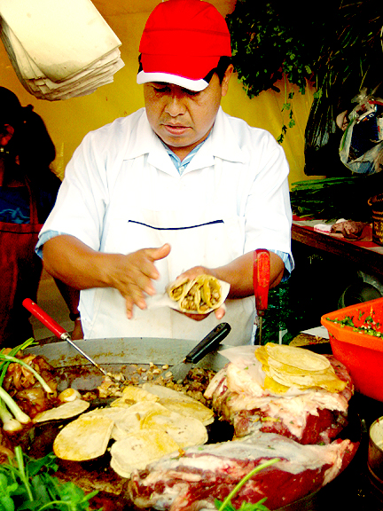 Taco Guy in Mexico City
