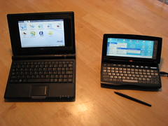 Asus Eee 4G and HP Jornada 620LX