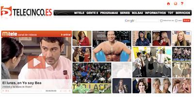 captura de la web de tele5