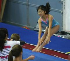 jump (wmliu) Tags: people girl sport kids iso3200 gymnastics gym meimei rebound 70200mm canonef70200mmf28lisusm wmliu