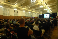 Keynote at linux.conf.au 2008 - photo by Fox2Mike - http://farm3.static.flickr.com/2019/2274945214_641a4cd148_m.jpg