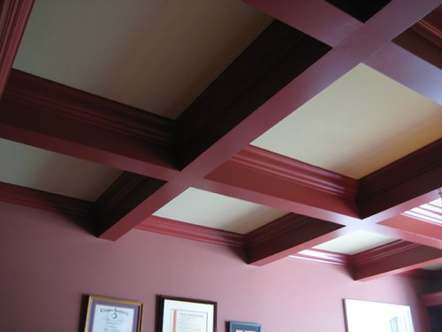 Coffered ceiling how to paint