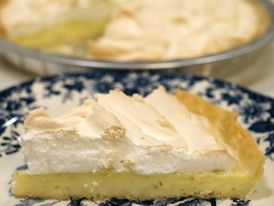 Lime & Coconut Meringue Pie