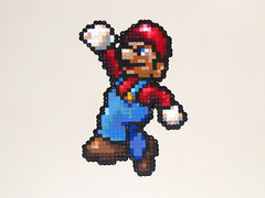 Mario Bead Sprite (Doctor Octoroc) Tags: smash brothers nintendo super mario videogames bros gamecube n64 melee supersmashbrosmelee supermariobros wii supermarioworld hamabeads perlerbeads supersmashbrosbrawl beadsprite doctoroctoroc