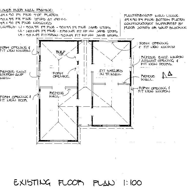Cottage -existing floorplan