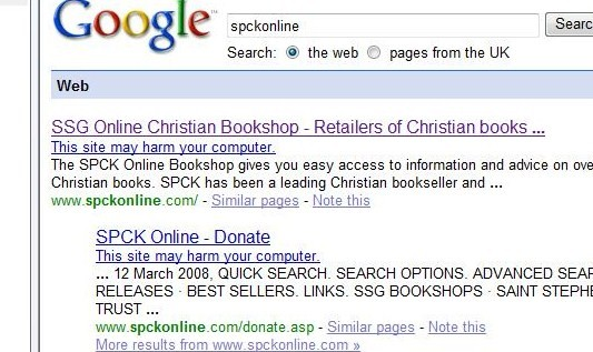 spck unsafe Google