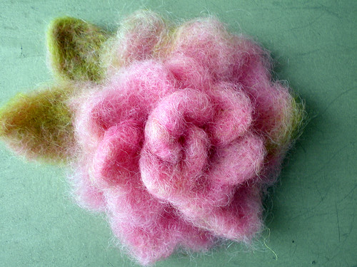 Needlefelted Rose (two)
