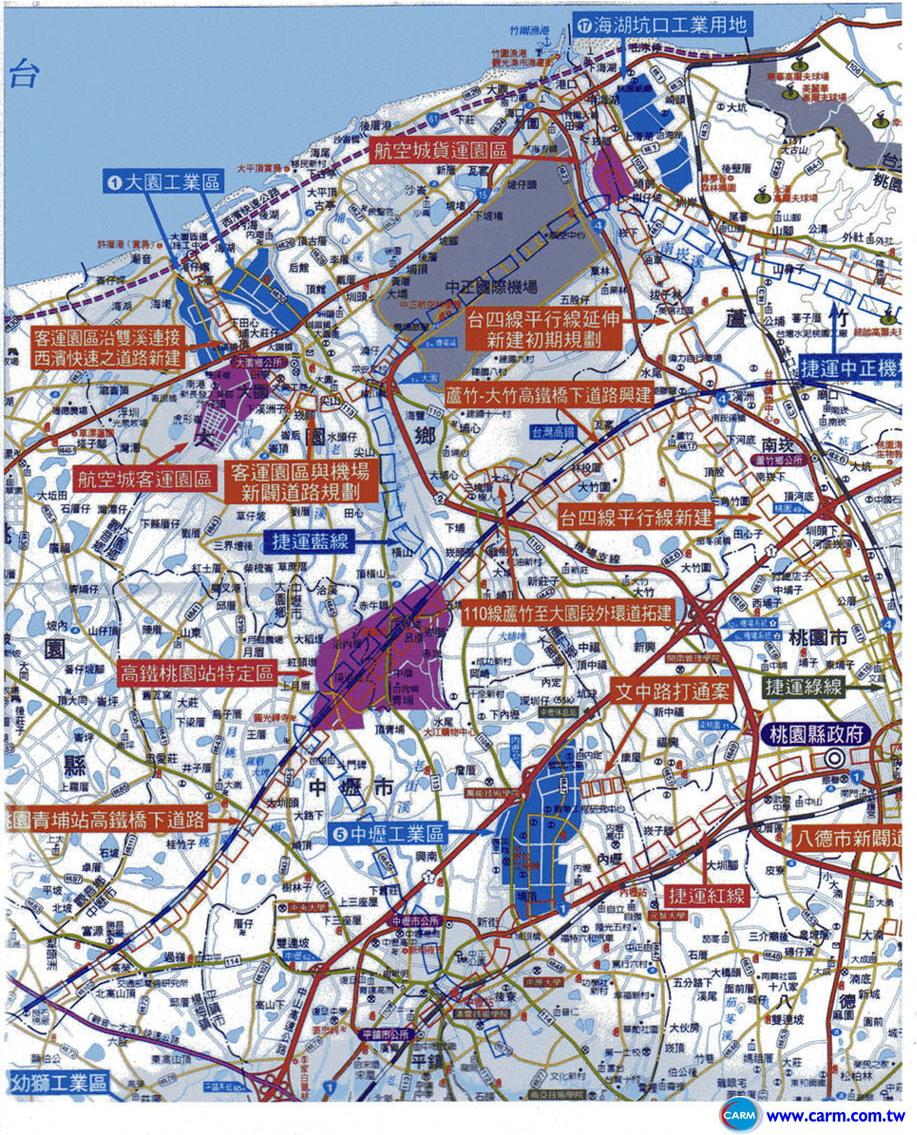 桃園航空城路線圖