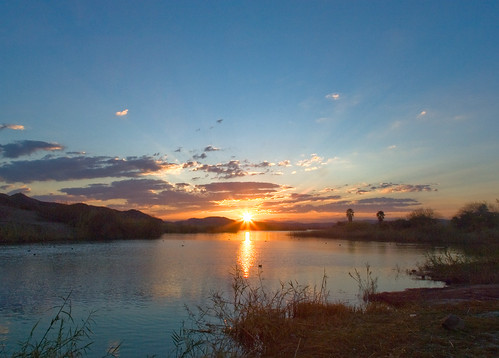 Sunrise at Squaw Lake, Yuma, Arizona