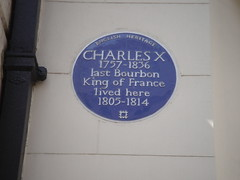 Photo of Charles X of France blue plaque