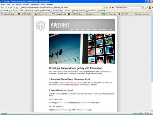 Creación de Galerías Web V | Simpleviewer y Lightbox JS desde Photoshop ceslava 2