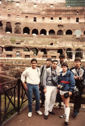 High school kids at the Colosseum 1986