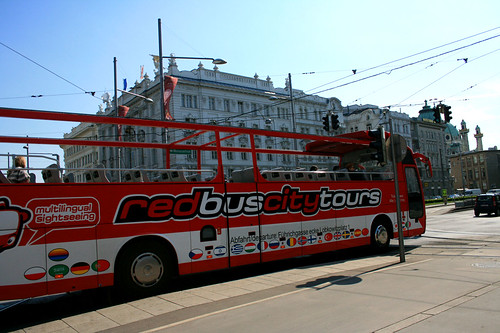 red bus city