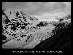 The Grossglockner and Pasterze Glacier (violinconcertono3) Tags: mountains alps ice austria blackwhite glacier explore 1963 pasterze blackwhitephotos glassglockner 19sixty3