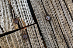 2/20 Old Boards (Karol A Olson) Tags: nails rust cracked wood deck boards old feb17 project3652017 mdpd2017 51nails 117picturesin2017