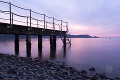 Pier at sunset (BlažL) Tags: slovenia europe piran long exposure nikon1755f28 landscape nature view pier