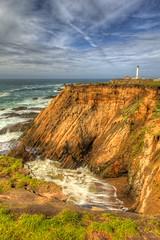 Point Arena (David K. Edwards) Tags: arena pointarena ocean seashore cliffs bluffs waves breakers lighthouse mendocino hdr handheld